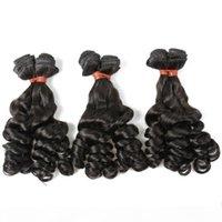 Ola suelta paquetes de pelo brasileño 10-30 pulgadas Color natural Extensión del cabello humano 6A Tejido de cabello largo sin procesar