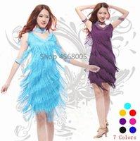 Студенческая одежда 2021 старинные Bling мода V шеи 1920-х годов блестка бахрома Charleston Happer Great GATSBY танцевальная одежда платья костюмов1