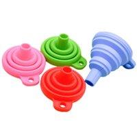 Portátil plegable mini-color de silicona embudo embudo de impedir el derrame accesorios de la herramienta de llenado de líquido cocina del hogar Material KKF2021