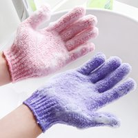 Großhandel Moisturizing Spa Hautpflege-Tuch-Bad-Handschuh Five Fingers Peeling Handschuhe Gesicht Körper Bade Haltbare weiche Handschuhe BC KKA1570