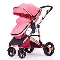 Kinderwagen # High View Kinderwagen Light Folding Ultralight Kann sitzen und liegen tragbarer Babywagen Einfache Regenschirm-Automution