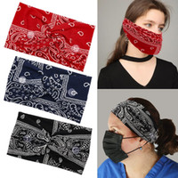 New Casual Mouth Mask Stretch Hairband With Buttons For Hang...