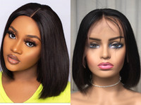 Short Bob Lace Frontal Wigs Brazilian Virgin Hair Straight L...