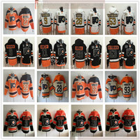 Filadelfia Ulotki Hokej Houndie Jerseys 28 Claude Giroux 93 Jakub Voracek 53 Shayne Gostisbeherehere Ron Hextall Travis Konecny Ivan Provorov