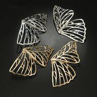 Kelebek Kanat Kadın Kulak Çiviler Takı Kaplama Altın Moda Hollowing Out Bayan Bildirimi Küpe Alaşım Küpe 2020 1 5LG J2B