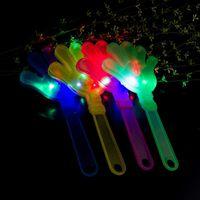 LED 조명 핸드 클래퍼 콘서트 파티 바 공급 참신 깜박이 핸드 샷 LED 팜 슬레이퍼 키즈 전자 장난감 PPD3340