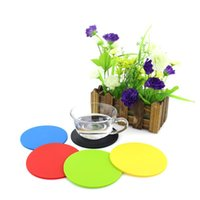 Farbiger Silikon Runde Untersetzer Kaffeetasse Halter Wasserdichte Hitzebeständige Tasse Matte Verdicken Kaffee Coaster Kissen Placemat Pad