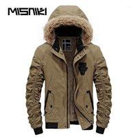 Misniki Brand 2018 горячая мода с капюшоном мужская зимняя куртка пальто высокого качества случайные тонкие мужские зимние куртки1