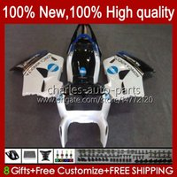 Kit de cuerpo para Honda Interceptor VFR800RR VFR 800RR 800 RR 99HC.52 VFR800 White Glossy 98 99 00 01 VFR800R 1998 1999 2000 2001 Failings Full