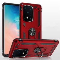 Military-Grade Armor Phone Cases Cover with Ring Magnetic Car Mount Kickstand for Samsung Galaxy S21 FE S20 Ultra S10 Plus Note20 Note 10