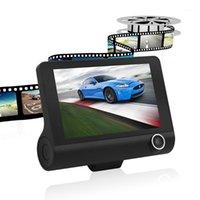 سيارة DVR DVRS 4.0 '' 3 طريقة كاميرا فيديو مسجل الرؤية الخلفية تسجيل السيارات مع كاميرات داش داش كام عدسة عدسة مزدوجة 1