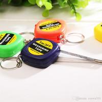 Mini 1m Maßband mit Keychain Kleines Stahllineal Tragbare Ziehhersteller Retractable Tape Maße Flexible Messwerkzeuge VT0321