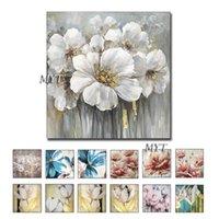 Peintures MyT Home Decor Mur Art Photos 1 Pieces Huile de fleurs blanches sans cadre