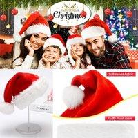 DHL Рождество Санта-Клаус шляпа красных и белый колпак Партия Шляпа для Санта-Клаус костюм Новогоднего украшения для детей взрослого Рождества Hat FY6187