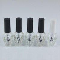 1 adet 8 ml-10 ml Boş Oje Şişeler Şeffaf Oje İle Kapak Kozmetik Konteynerleri Glass boşaltın
