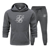 winter Men SikSilk Brand Fashion Sportswear Set Cotton Men G...