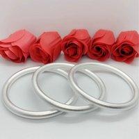 Antiguas pulseras para hombre y mujeres congeladas cerradas pulseras plateadas de plata de cobre
