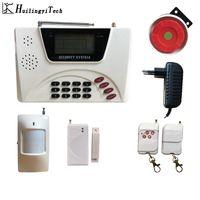الشحن مجانا! HuilingyiTech تحكم لاسلكي الأمن الرئيسية GSM انذار نظام الاتصال الداخلي التحكم عن بعد صفارة الإنذار الطلب التلقائي الاستشعار كيت
