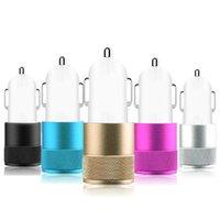 Samsung LG Sony Akıllı Telefon için Adaptör Şarj Metal Çift USB Bağlantı Noktası Araç Şarj Evrensel 5V 1A