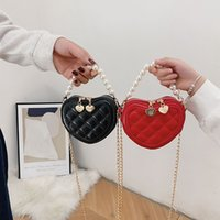 Neue Mode Kids Designer Prinzessin Taschen Mädchen Liebe Herz Perle Handtaschen Kinder Cross-Chain Mini Change-Handtasche Messenger Bags C6676