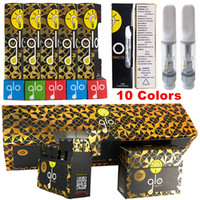 GLO Extracts Vape Cartridges New Packaging 0.8ml 1ml 1 Gram Ceramic Thick Oil Tank 510 Dab Pen Vaporizer Empty Vape Pen Packaging Oil Carts