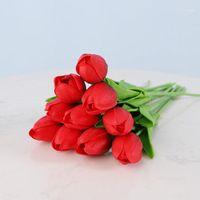 Fiori decorativi Corone Bellezza Real Touch Toublex Tulips Artificiale Bouquet Fiore Artificiale Falso Decorazione nuziale da sposa falsa per nozze1