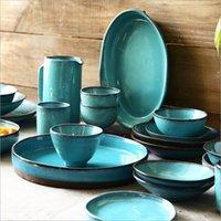 Porselen Yemek Plaka Seti Mutfak Tabak Seramik Sofra Yemek Kapları Pirinç Salata Makarna Bowl Aşevi Cook Aracı C1111