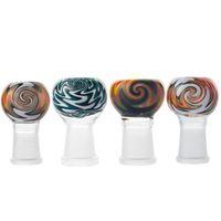 Wig wag 2016 heady трубы стеклянные купол красочные 14.5mm 18.8mm женский чаша стеклянные бонги чаши для стеклянной водой бонг курительные трубы