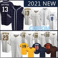 2020 새로운 맞춤형 23 페르난도 Tatis Jr. 13 매니 Machado 야구 유니폼 Tony Trevor Hoffman Chris Paddack Eric Hosmer Jurickson Margot Meyers