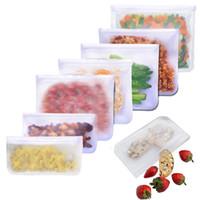 ثلاجة الغذاء ختم حقيبة قابلة لإعادة الاستخدام فراغ سيليكون الغذاء حقيبة الحليب حليب الفاكهة أكياس تخزين اللحوم WB3464