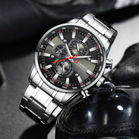 2020 أعلى كورين ساعة اليد للرجال مع الفولاذ المقاوم للصدأ الفرقة الأزياء الكوارتز ساعة كرونوغراف مضيئة مؤشرات رياضية فريدة من نوعها