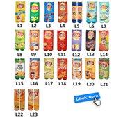 2021 Mode 3D gedruckt Lebensmittel Briefe Frauen Männer Knöchelsocken Chips Snack Kreative Freistehende Strümpfe Multicolor Sport Unisex Socken E122102