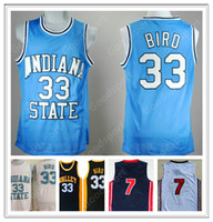 Hot Indiana State College NCAA Larry cousue 33 oiseaux cousu Broderie Swingman Jerseys Shorts Shirs Classement Sport Basketball K