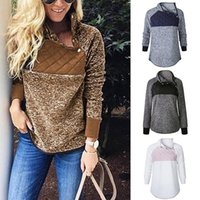 Winter Jacket Women Plush Oblique Collar Coat Jacket Sweater...