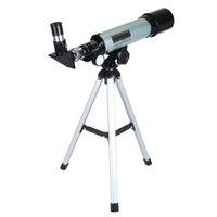 FreeShipping 360x50mm telescopio astronomico Campeggio monoculare Con treppiedi portatile Spazio Cannocchiale telescopio monoculare per principianti