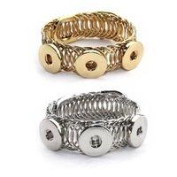 Charme Armbänder Mode Metall 108 Vintage Elastische 12mm 18mm Snap Button Armband Armreif Austauschbare Schmuck für Frauen Männer Geschenk