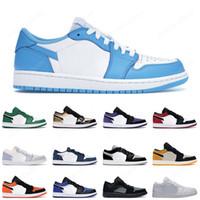 low 1 unc basketball shoes jumpman 1s men women court purple black toe shattered backboard mens trainer sports sneakers