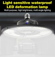 Best seller E27 LED Deformable Folding Garage Lamp Super Bright Industrial Lighting 60W 80W 100W UFO High Bay Industrial Lamp for Warehouse