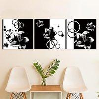 3 pezzi wall art flower flower painting su tela poster e stampe pronte ad appendere per la decorazione della parete della casa