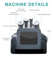 80K / 40K 초음파 Cavitation 진공 다중극 바디 얼굴 RF 냉동 초음파 웨이브 뷰티 슬리밍 기계 배송 무료 # 002