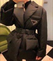 20FW mujeres chaqueta abajo abrigos esquimales largos de la capa estilo de invierno con betl corsé Señora de la manera delgada chaquetas de bolsillo del Outsize capas calientes de S-L