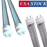 Dimmable T8 LED-lampor, 4 ft 4feet 22W 28W-lampor belysning, 72W LED-fluorescerande rör, 4FT Rotate Cap Swivel slutar G13 SMD2835
