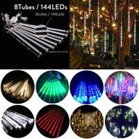30cm 8 LEDs Waterproof Colorful Meteor Shower Rain Tubes LED Light Outdoor Christmas Fairy String Lights Decoration