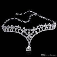 Tiara Naszyjniki Bridal Crown Wedding Hair Akcesoria Biżuteria dla nowożeńców