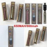 USB Şarj TOP Brass Knuckles Kartuşları Onceden Pil 650mAh 900mAh BK Ayarlanabilir Voltaj 510 Konu Pil Kalın Yağ Kartuşları