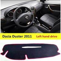 Aijs Автомобильная приборная панель пылезащитный прокладки для Dacia Duster 2011 левый привод Auto панель инструментов защитный коврик для Dacia Duster 20111