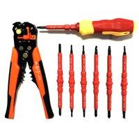 손 도구 세트 고급 절연 전기 기사 펜 키트 드라이버 세트 자동 와이어 스트리퍼 관형 crimping 도구 펜치 LJ200815