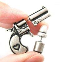 Stud DXJEL Vintage Fake Fake Gun Pistol et Faux Boucles d'oreilles pour femmes Bijoux Drop Grossiste Fashion1