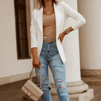 2021 New Women's Business Blazers Primavera Autunno Autunno All-Match Giacche femminili Slim a maniche lunghe Casual Blazer Solid Blazer Donne vestiti Top1