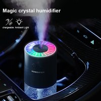 Mini tragbarer Luftbefeuchter Magie Kristallprojektionslampe Luftbefeuchter USB Auto Home Wasser Diffusor Reinigungsnebel Maker